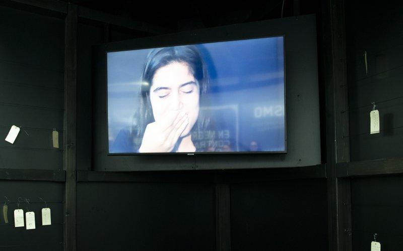 vídeo Instalación do triangulo no Obradoiro