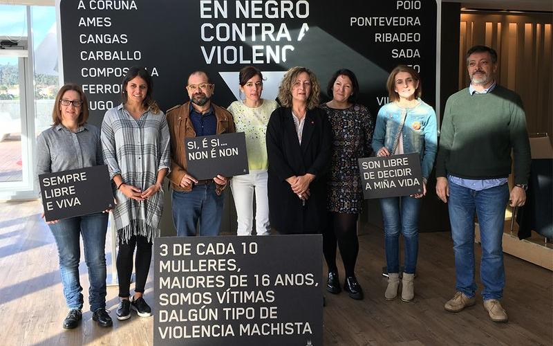 Concellos en negro contra a violencia