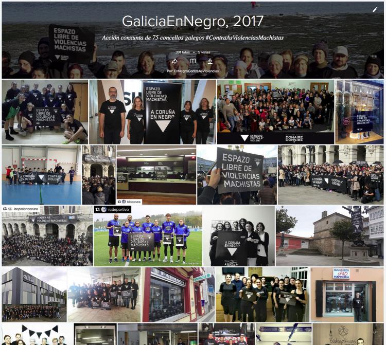 Álbums das accións do 25N do 2017